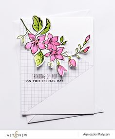 Quick and simple Thinking of You card - Altenew Blog