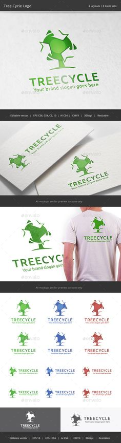 Tree Recycle - Logo Design Template Vector #logotype Download it here: http://graphicriver.net/item/tree-recycle-logo/11156746?s_rank=983?ref=nexion