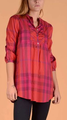 Burberry wow! cotton shirt with check print.