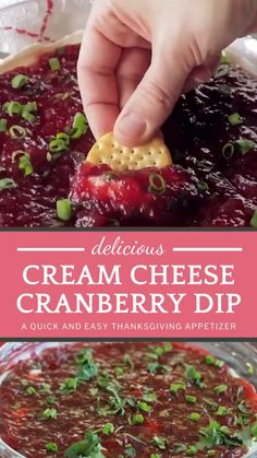 Cranberry Cheese, Cranberry Recipes, Cranberry Sauce, Appetizer Dips, Yummy Appetizers, Easy Holiday Appetizers, Easy Holiday Recipes, Easy Appetizer Recipes, Christmas Desserts