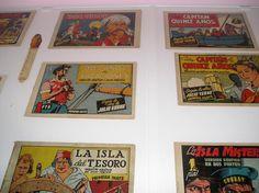 Héroes de papel.    ARTIUM expuso desde el 18 de junio al 28 de agosto de 2005, una selección de cómics de carácter histórico que habían sido recientemente adquiridos para su Biblioteca. La muestra, titulada Héroes de papel, estaba compuesta por más de 1.500 ejemplares, pertenecientes a cuarenta colecciones diferentes, en series completas, publicadas entre 1936 y 1961. Se podían encontrar tebeos de aventuras con gran éxito en su momento, junto con auténticas rarezas de gran valor...
