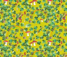 """a moi la fortune"" fabric by nadja_petremand on Spoonflower - custom fabric"