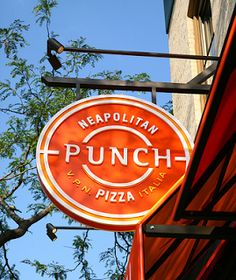 Punch pizza sign