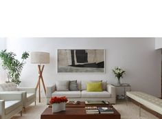 Izabela Lessa Arquitetura apartamento Leblon Sleek and calm...gorgeous.
