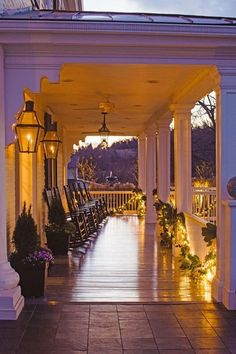 Southern porch in the evening
