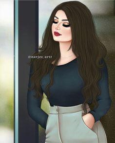 Image may contain: 1 person, standing.Feel the rain falls😍 Mother Daughter Art, Mother Art, Cute Cartoon Girl, Cartoon Art, Sarra Art, Chica Cool, Girly M, Cute Girl Drawing, Beautiful Girl Drawing