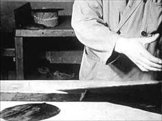 Het vervaardigen van een hoge zijden hoed.(Silk Tophat)