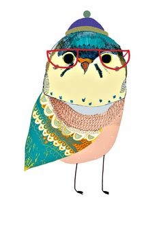 Cool little Owl limited edition art print by by AshleyPercival, $40.00