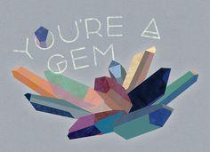 You're a gem. http://positivepostage.com/