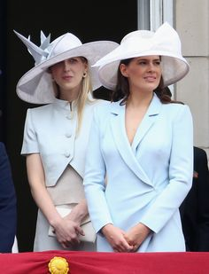 onemoreblogaboutroyals:   Trooping the Colour, June 14, 2014-Lady Gabriella Windsor and her sister-in-law Lady Frederick Windsor