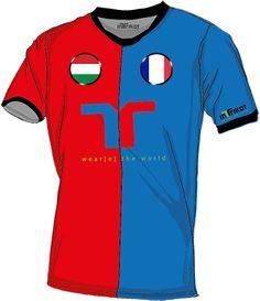 Ungarn - Frankreich l Hungary - France kurzarm Trikot mit Wunschnamen und Wunschnummer