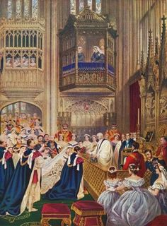 The Royal Wedding between Albert Edward, Prince of Wales, future King Edward VII and Alexandra of Denmark at St. George's Chapel, Windsor, Enlgand, March 10, 1863. From Edward VII His Life and Times, published 1910. Poster Print (11 x 16)