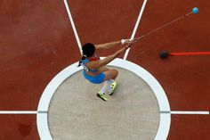 Let it fly... Russia's Tatyana Lysenko wins gold in the women's hammer throw final.
