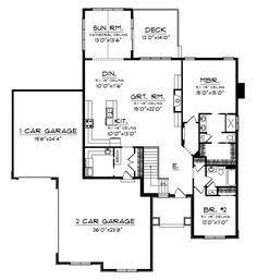 Plan 44045td Center Hall Colonial House Plan Center