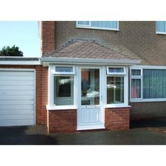white red brick white upvc porch