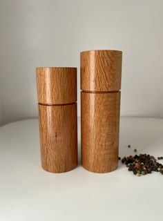 Feature Pepper/Salt grinders handcrafted in Western Australian from beautiful Sheoak timber.