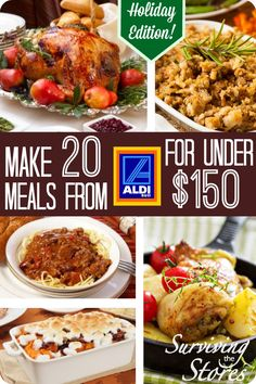 This meal plan makes it so easy!  You can make 20 Holiday Meals From ALDI for less than 150!!