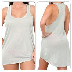 I'm now available online!!!  $13 Gray Tunic Tank. Size avail is (3) Small, (2) Medium, (1) Large.  Buy me online at www.hollywoodifshecouldsboudoir.com or if you have a question, let me know by leaving a comment!