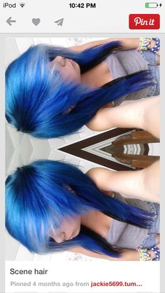 I love the color! I would get my hair cut & dyed this way if i could!