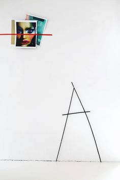 simple inexpensive way to display art - just your home printer and washi tape! love!