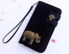 Elephant iPhone 4s - iPhone 5 wallet case - Samsung S5 Leather,Samsung S3 flip case,galaxy S4 mini case,samsung note 3 pouch,iPhone 4 cover
