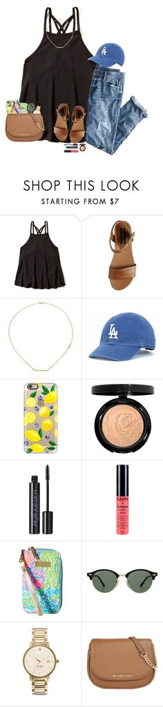 """Good Morning Sunshine!"" by sassysouthernprep99 ❤ liked on Polyvore featuring Hollister Co., J.Crew, Steve Madden, Jennifer Zeuner, Casetify, Urban Decay, NYX, Lilly Pulitzer, Ray-Ban and Kate Spade"