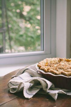 Blueberry Peach Crisp Pie
