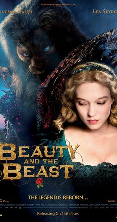 Directed by Christophe Gans.  With Vincent Cassel, Léa Seydoux, André Dussollier, Eduardo Noriega. An unexpected romance blooms after the the youngest daughter of a merchant who has fallen on hard times offers herself to the mysterious beast to which her father has become indebted.