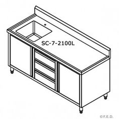 FED SC-7-2100L  kitchen Tidy Cabinets
