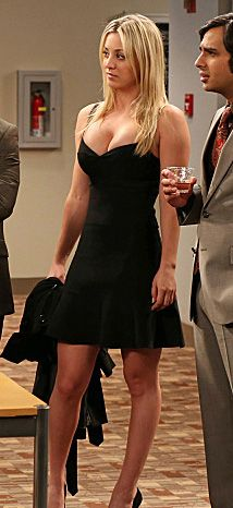 An awesome website where you can find what actress's wear on their shows, like Penny's black flared bandage dress on The Big Bang Theory