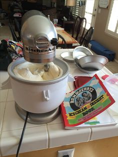Homemade Ice Cream Using Ben U0026 Jerryu0027s Recipe Book U0026 Kitchen Aid Stand Mixer  And Ice