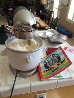 Vanilla Ice Cream Made In The Kitchenaid Ice Cream Maker