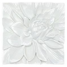 Lotus Flower Plaque | Z Gallerie    Other versions come in turquoise and  a chrysanthemum flower pattern.