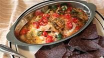 Red snapper is cooked with a Mexican-inspired mixture of tomatoes, jalapeno peppers, olives, and oregano, for a light but flavorful meal.