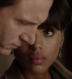 Olivia Pope looking at President Fitzgerald Grant on the ABC series Scandal.