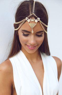 Minc Collections - Dakota Headpiece - Gold | Accessories | Peppermayo
