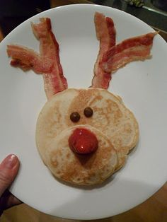 Christmas morning pancakes- i can see this as a possible fail but looks cute to try