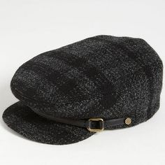 Burberry Smoked Check Wool Flat Cap - Sale 3929f5d241e
