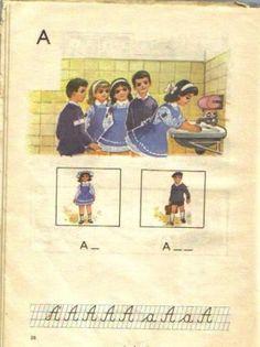 vintage ABC Firefox Logo, Vintage School, My Memory, First Grade, Alter, Booklet, Childhood Memories, Card Games, Nostalgia