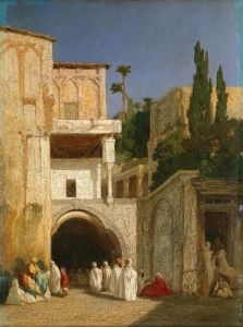 Before the Mosque in Cairo - Alexandre-Gabriel Decamps - The Athenaeum