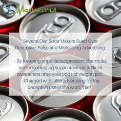 Did you know that 5 of the top soda makers in the U.S. are being sued over false claims? There is no scientific evidence of diet or weight loss aid in their products #healthy #health #faq #losangeles