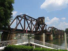 6th Street Rail Crossing, Riverwalk, Augusta, Georgia