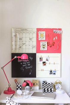 Boho Deco Chic: Inspírate: una oficina en el dormitorio