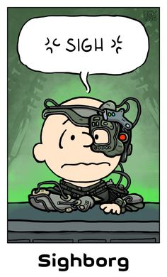 What do you get if you cross Peanuts with Star Trek - The Next Generation? A Sighborg. Pencil sketch, inked and coloured in Krita, framed an. Star Trek Borg, Star Trek Posters, Star Trek Images, Star Trek Universe, Star Trek Ships, Dc Movies, Dad Jokes, Geek Culture, Star Wars Art