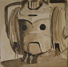 Art for the robot bathroom?  Cyberman painting. $20.00, via Etsy.