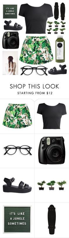 """it's like a jungle"" by kathleenschutz ❤ liked on Polyvore featuring Fujifilm, Nude and Nearly Natural"