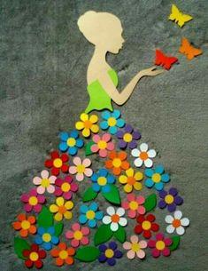 40 Easy DIY Spring Crafts Ideas for Kids - Crafts ideas 💡 Kids Crafts, Diy And Crafts, Craft Projects, Arts And Crafts, Paper Crafts, Craft Ideas, Diy Paper, Easy Felt Crafts, Craft Decorations