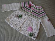 casaquinho de criança em crochê