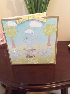 """Made by Sue rose from Worcester: """"I used tattered lace dies had fun making this card"""" Worcester, Cardmaking, Birthday Cards, Elephant, Rose, Fun, Decor, Bday Cards, Pink"""