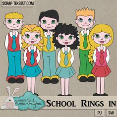 School Rings in, Collab with Sus Designs http://scraptakeout.com/shoppe/